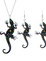 cheap -Women's Jewelry Set - Animal Simple, Fashion Include Drop Earrings / Pendant Necklace Black For Ceremony / Going out