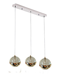 cheap -QIHengZhaoMing 3-Light Pendant Light Ambient Light - Eye Protection, 110-120V / 220-240V, Warm White, Bulb Included / G4 / 10-15㎡