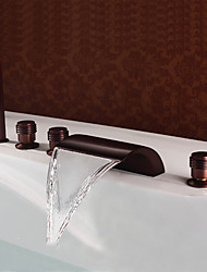 baratos -Torneira de Banheira - Clássica Bronze Polido a Óleo Difundido Vãlvula Latão