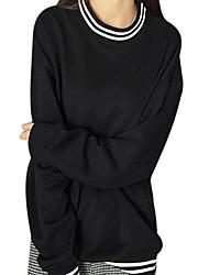 preiswerte -Damen Langarm Pullover - Streife, Solide Baumwolle