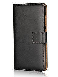 abordables -Funda Para Nokia Nokia 9 Soporte de Coche Cartera con Soporte Flip Color sólido Dura Cuero de PU para