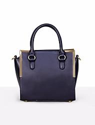 preiswerte -Damen Taschen Kuhfell Umhängetasche Knöpfe für Normal Ganzjährig Blau Schwarz