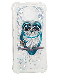 cheap -Case For Motorola MOTO E4 Shockproof Flowing Liquid Pattern Back Cover Owl Soft TPU for Moto G5s Moto E4