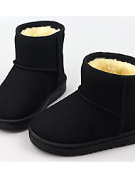 cheap -Girls' Shoes Nubuck leather Winter Fall Snow Boots Comfort Boots Booties/Ankle Boots for Casual Black Red Khaki