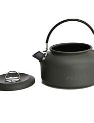 Недорогие -1 Походный чайник Все для приготовления пищи на улице Пригодно для носки Нержавеющая сталь на открытом воздухе за Походы Серый