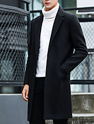 Jednobarevné Denní Na běžné nošení Kabát-Zima Podzim Polyester Košilový límec Dlouhé rukávy Dlouhé