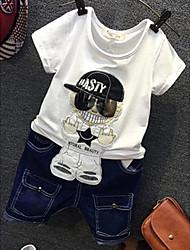 Недорогие -Мальчики Набор одежды Повседневные Другое Человек Лето С короткими рукавами Белый