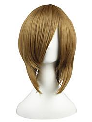 Недорогие -Парики из искусственных волос Естественные прямые плотность Без шапочки-основы Жен. Коричневый Парики для косплей Короткие Искусственные