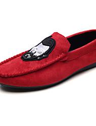 preiswerte -Herren Schuhe Stoff Frühling Herbst Komfort Sandalen für Normal Schwarz Rot