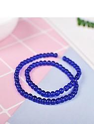 preiswerte -DIY Schmuck 65 Stück Glasperlen Harz Grau Purpur Rot Grün Blau Kreisförmig Korn 0.4 cm DIY Modische Halsketten Armbänder