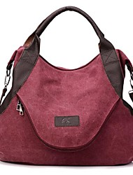 cheap -Women Bags Canvas Polyester Satchel Zipper for Casual All Season Khaki Dark Red Army Green Brown Gray