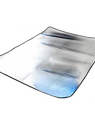 Недорогие -Пикник Одеяло На открытом воздухе Походы С теплоизоляцией, Влагонепроницаемый Алюминий Пляж, Походы, Путешествия для 2 человека