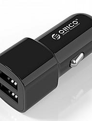 Недорогие -orico ucl-2u usb автомобильное зарядное устройство 2 порта 5v2.4 5v1a max 17w мини-зарядное устройство зарядное устройство usb