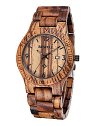 cheap -Men's Wood Watch Unique Creative Watch Wrist watch Japanese Quartz Calendar / date / day Water Resistant / Water Proof Wood Band Luxury