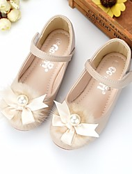 cheap -Girls' Shoes Synthetic Microfiber PU Spring / Fall Comfort / Flower Girl Shoes Flats for Beige / Pink