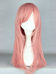 cheap -Cosplay Wigs Lolita Pink Solid Lolita Wig 55cm CM Cosplay Wigs Solid Colored Wig For