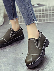 cheap -Women's Shoes PU Suede Winter Comfort Fashion Boots Boots Round Toe Booties/Ankle Boots For Casual Army Green Black
