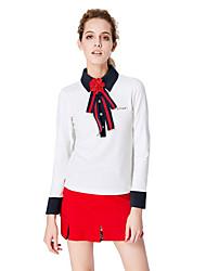 baratos -Mulheres Golfe Camiseta com Fecho Secagem Rápida A Prova de Vento Vestível Respirabilidade Golfe Exercicio Exterior