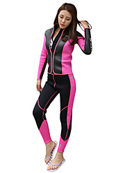 cheap -HISEA® Women's Full Wetsuit Windproof Heat Retaining Swimming Stretchy Nylon Neoprene Sponge Diving Suit Long Sleeves Diving Suits