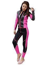 Недорогие -HISEA® Жен. Гидрокостюм мокрого типа С защитой от ветра сохраняющий тепло Плавание Стреч Нейлон Неопрен Губка Водолазный костюм Длинный