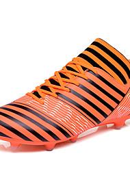 baratos -Homens sapatos Couro Ecológico Primavera / Outono Conforto Tênis Futebol Preto / Laranja / Verde Claro