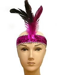 abordables -Clásico Máscara de la mascarada Amarillo Rosa Rojo Verde Azul Pluma Accesorios de cosplay Mascarada