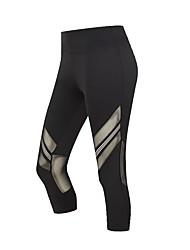 abordables -Femme Pantalons de Course Respirabilité Corsaire / Pantalon / Surpantalon Course / Running Polyester, Spandex Noir S / M / L