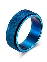 preiswerte -Herrn Bandring - Kreisform Einfach / Freizeit / Modisch Gold / Schwarz / Blau Ring Für Büro & Karriere / Arbeit