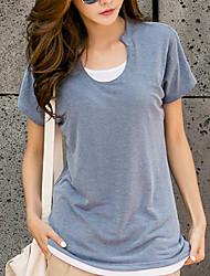 cheap -Women's Cotton T-shirt - Solid