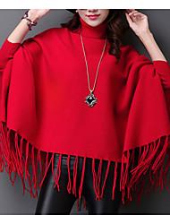 preiswerte -Damen Retro Langarm Pullover-Solide Rollkragen