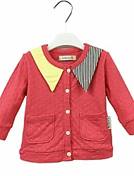 cheap -Girls' Daily Solid Suit & Blazer, Cotton Cute Fuchsia