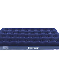 cheap -Bestway® Air Mattress Outdoor Moistureproof/Moisture Permeability Portable Foldable Inflated Travel Rest Stretchy Compact Flocked Flocking
