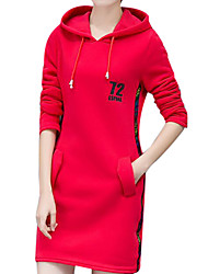 cheap -Women's Daily Casual Hoodie Solid Hooded Micro-elastic Cotton Long Sleeve Fall