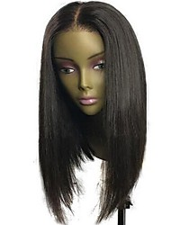 cheap -Human Hair Indian Lace Wig Straight Bob Haircut With Baby Hair Glueless Full Lace Unprocessed 100% Virgin Middle Part Natural Hairline