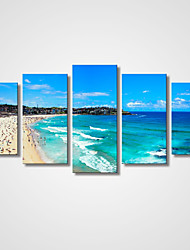 cheap -Stretched Canvas Print Five Panels Canvas Horizontal Print Wall Decor Home Decoration