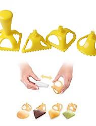 baratos -Ferramentas bakeware Plásticos Ferramenta baking / Gadget de Cozinha Criativa / Faça Você Mesmo Para utensílios de cozinha / para Bread / para Candy Moldes de bolos 4pçs
