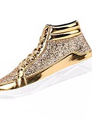 billiga -Herr PU Vår / Höst Komfort Sneakers Guld / Svart / Silver