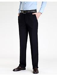 economico -Per uomo Essenziale Lavoro Pantaloni - Tinta unita