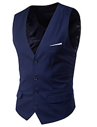 cheap -Men's Vest-Solid Colored,Classic Style / Sleeveless