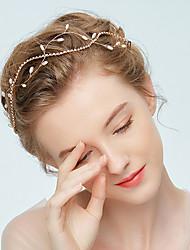 abordables -Imitation de perle Strass Alliage Tiare Serre-tête Accessoires pour Cheveux 1 lot Mariage Occasion spéciale Casque