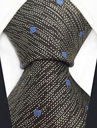 Недорогие -мужской партийный рабочий районный галстук - сплошной цветной цветной жаккард
