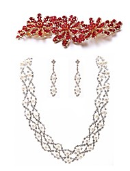 cheap -Women's Jewelry Set - Imitation Pearl, Imitation Diamond Dreamcatcher European, Fashion Include Hair Combs / Bridal Jewelry Sets White For Wedding / Party