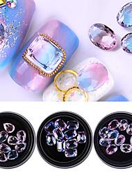 abordables -Joyería de uñas Nail Glitter Lujo Bling Bling Moda Alta calidad Diario Nail Art Design