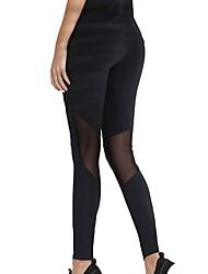 abordables -Mujer Malla Pantalones de Running - Negro, Gris oscuro Deportes Licra Pantalones / Sobrepantalón / Leggings Ropa de Deporte