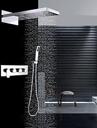 economico -Rubinetto doccia - Moderno Cromo Montaggio su parete Valvola in ceramica