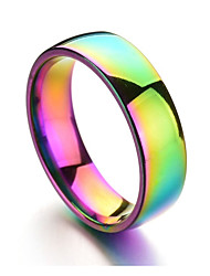 cheap -Men's Colorful Band Ring - Circle Rainbow Casual Colorful Champagne Ring For Daily Formal