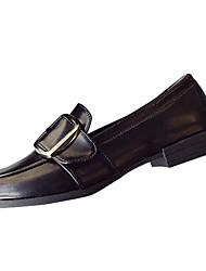 abordables -Femme Chaussures Polyuréthane Printemps Automne Confort Ballerines Talon Plat pour De plein air Noir Marron