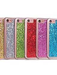 Недорогие -Кейс для Назначение Apple iPhone 8 iPhone 8 Plus Защита от удара Задняя крышка Сияние и блеск Мягкий Акриловое волокно для iPhone 8 Pluss