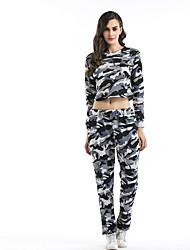 abordables -Femme Tee-shirt - Couleur Pleine, Mince Pantalon