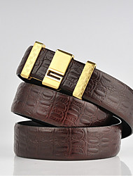 cheap -Men's Casual Leather Alloy Waist Belt